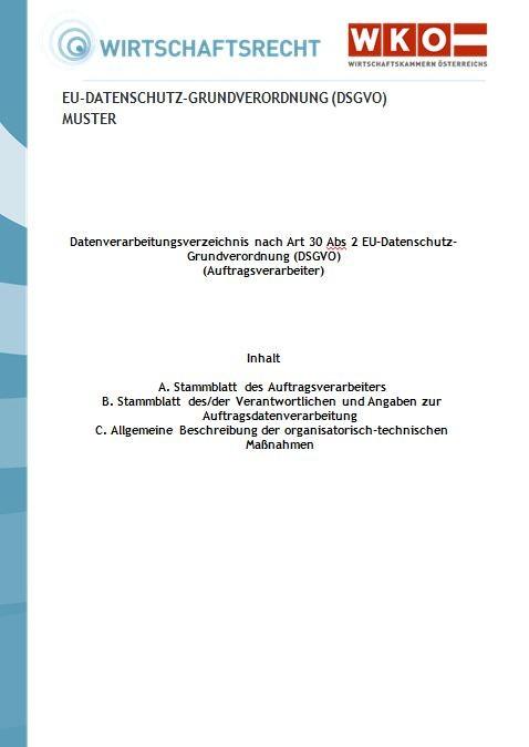 eu datenschutz grundverordnung dsgvo mustervertrag fr die auftragsverarbeitung - Auftragsdatenverarbeitung Muster